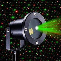 Proiector laser pentru exterior cu stele miscatoare si joc de lumini