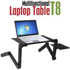 Masuta reglabila si pliabila pentru laptop T8 cu 2 ventilatoare incluse