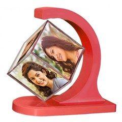 Cub foto magnetic rotativ 360 grade cu 6 poze 6 x 6 cm