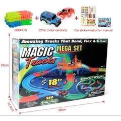 Pista luminoasa Magic Tracks 360 piese magic tracks - pistă de curse iluminată