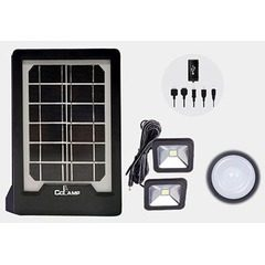 Kit panou solar cu slot USB GSM si 2 becuri lanterna LED incluse CL-08