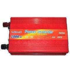 Invertor tensiune 12V-220V Lairun, 2000 Watt si putere continua 1200W