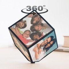 Cub foto rotativ personalizat cu 6 poze 10 x 10 cm