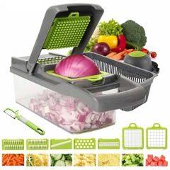 Razatoare multifunctionala pentru legume cu 7 cutite din inox