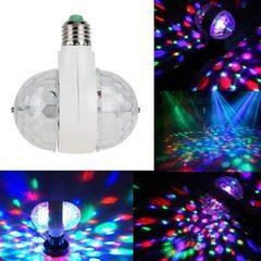 Bec rotativ dublu multicolor cu proiectie lumini disco 6 Watt