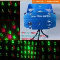 Proiector laser cu 6 figurine luminoase pentru Crăciun