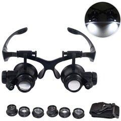 Lupa dubla tip ochelari si factor de marire cu magnificare 10x, 15x, 20x, 25x