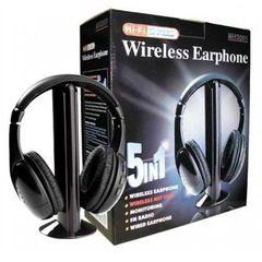 Casti wireless 5 in 1 cu microfon si radio FM incorporat