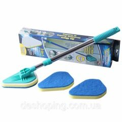 Mop Clean Reach cu forma triunghiulara maner telescopic si paduri abrazive