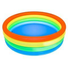 Piscina gonflabila 150 x 40 cm, cu 4 inele multicolor, JRH Family Pool