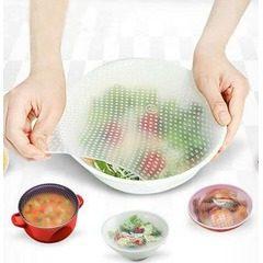 Set de 4 folii alimentare din silicon reutilizabile, Stretch and Fresh