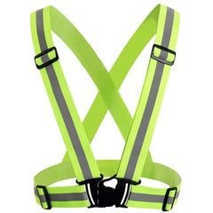 Ham reflectorizant tip bretele elastice reglabile, pentru constructii, ciclism, sport